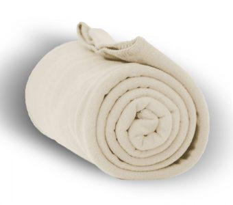 Deluxe Fleece Blanket-Cream