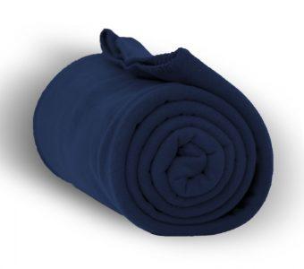 Deluxe Fleece Blanket-Navy