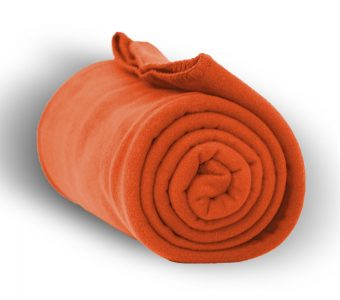 Deluxe Fleece Blanket-Orange