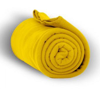 Deluxe Fleece Blanket-Yellow