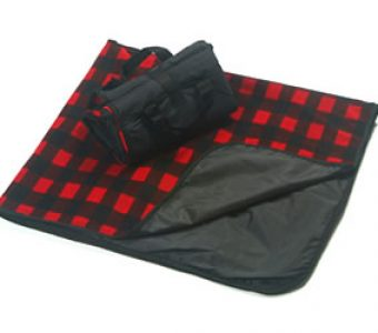 Picnic Blanket-Red Buffalo