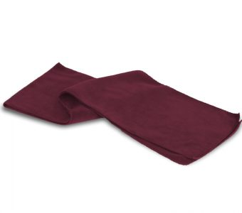 Fleece Scarf-Burgundy