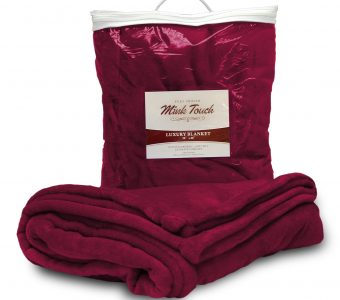 Mink Touch Blanket-Burgundy