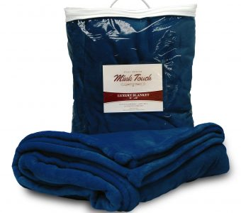 Mink Touch Blanket-Navy