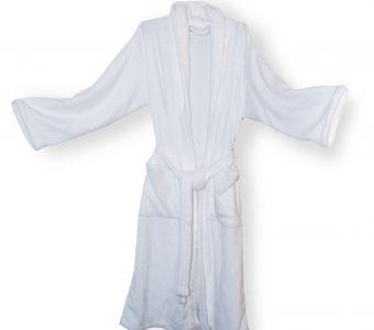 Mink Touch Robe-White