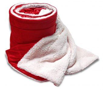 Mink Sherpa Oversized-Red