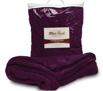 Mink Touch Blanket-Plum